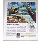 1944 GM Diesel Power Construction Equipment Front End Loader Dozer Color Art Print Ad