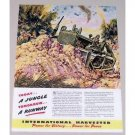 1944 International Harvester Tractor Dozer Wartime Color Art Print Ad