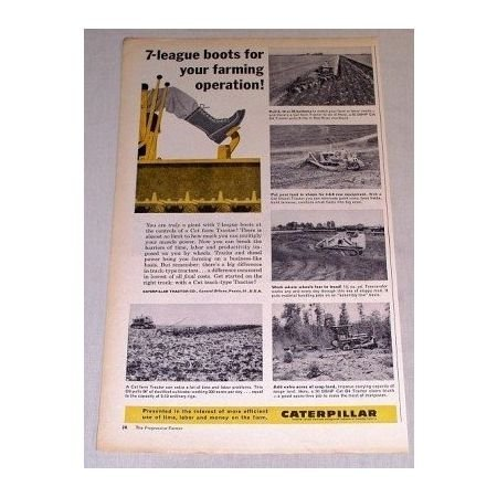 1960 Caterpillar Dozers Print Ad
