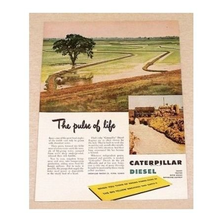 1949 Caterpillar Diesel Irrigation Systems Color Print Ad