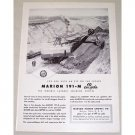 1954 Marion 191-M Loading Shovel Construction Print Ad