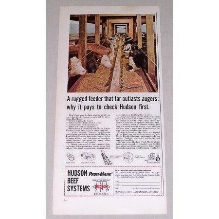 1967 Hudson Profi-Matic Beef Systems Color Print Ad