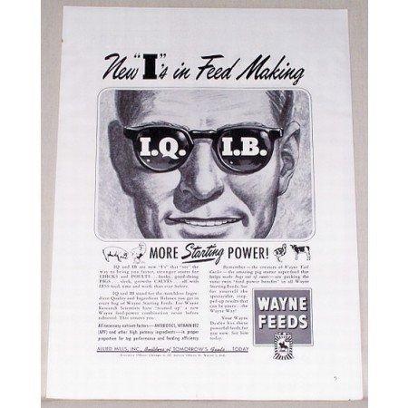 1951 Wayne Feeds Print Ad - New I's In Feed Making