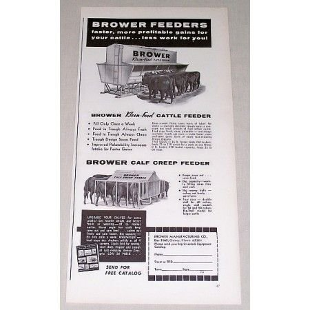 1967 Brower Kleen-Feed Cattle Feeders Print Ad