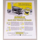 1951 Sparx Baby Pig Animal Food Pig Art Color Print Ad