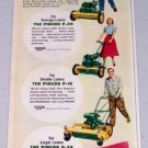 1949 Pincor P-18 P-20 P-24 Power Lawn Mowers Color Print Ad
