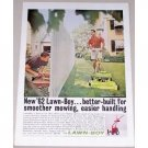 1962 Lawn Boy Model 7251 Push Mower Color Print Ad