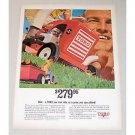 1967 Toro 4HP Lawn Tractor Mower Color Print Ad