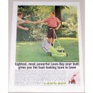 1962 Lawn Boy Model 7251 Power Push Mower Color Print Ad