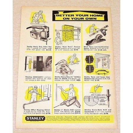 1959 Stanley Tools Saws Print Ad