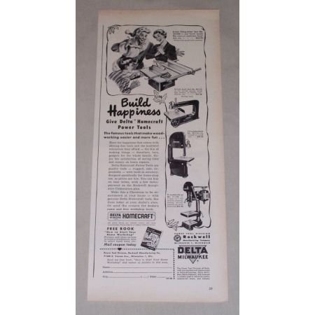 1949 Delta Milwaukee Homecraft Power Tools Print Ad