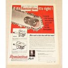 1957 Remington Logmaster Chain Saw Print Ad