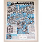 1962 Kleins Goods Socket Wrench & Tool Set Color Print Ad