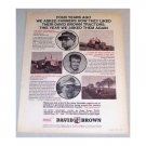 1969 David Brown Farm Tractor Print Ad