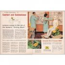 1961 John Deere Comfort Seat Design 2 Page Color Print Ad