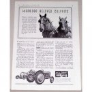 1941 Ford Tractor Ferguson System Print Ad