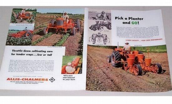 1960 Allis Chalmers Farm Tractors Implements 4 Page Color Print Ad