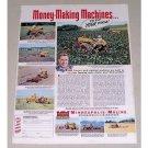 1951 Minneapolis Moline MM Farm Tractor Color Print Ad