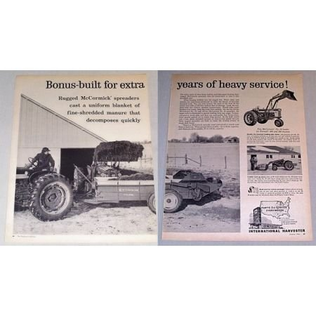 1961 McCormick No. 35 Manure Spreader 2 Page Print Ad