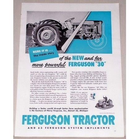 1951 Ferguson 30 Farm Tractor Color Print Ad