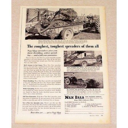 1956 New Idea Manure Spreader Print Ad