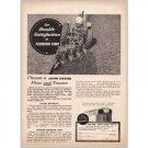1959 John Deere Tractor 4 Point Plow Print Ad