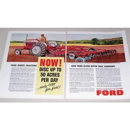 1959 Ford 981 Select-O-Speed Tractor Disk Harrow Print Ad
