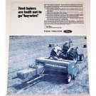 1971 Ford 532 Farm Tractor with 542 Hay Baler Print Ad