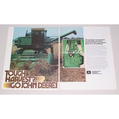 1978 John Deere Combine 2 Page Color Print Ad