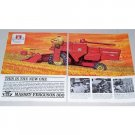 1963 Massey Ferguson 300 Harvester 2 Page Color Print Ad