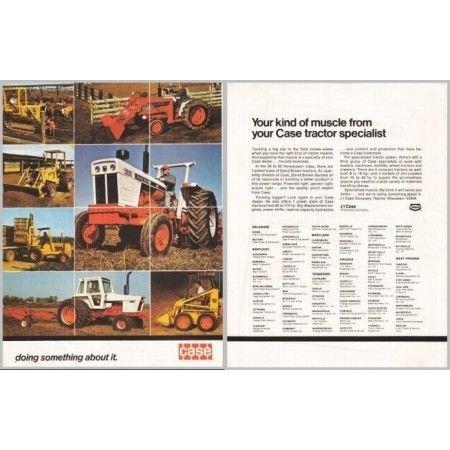 1974 Case David Brown Farm Equipment 2 Page Color Print Ad