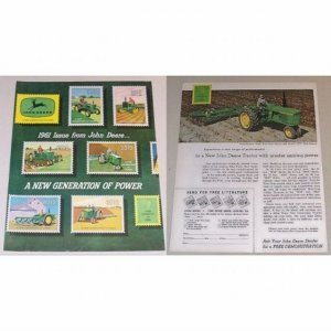 1961 John Deere Farm Tractor 4 Page Color Print Ad