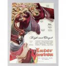 1947 Inter Woven Mens Socks Color Art Print Ad - Tough and Colorful