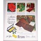 1948 Buxton Golden Jubilee Billfold Color Art Print Ad