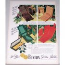 1948 Lady Buxton Golden Jubilee Billfold Color Print Ad