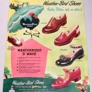 1948 Peters Weather Bird Shoes Footwear Color Print Ad