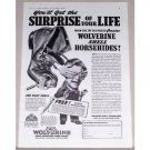 1941 Wolverine Shell Horsehide Work Shoes Print Ad