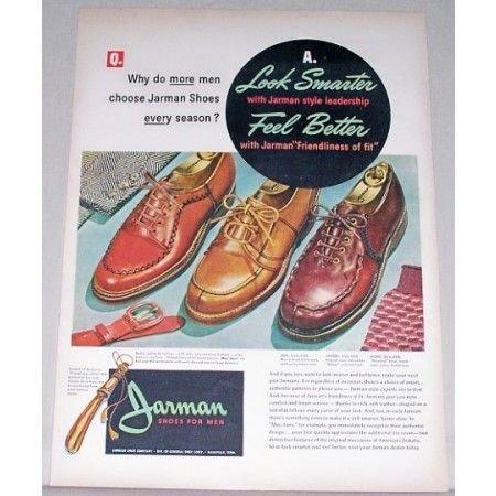 1947 Jarman Shoes Color Print Ad