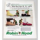 1957 Brown Shoe Co. Robin Hood Shoes Color Print Ad