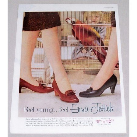 1960 Enna Jettick Fremont Monaco Women Shoes Color Print Ad