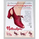 1955 Naturalizer Foam Wrappers Shoes Color Print Ad