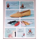 1963 Sandler Shoes Color Print Ad - There's This Girl Elf