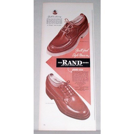 1948 Rand Shoes Color Print Ad