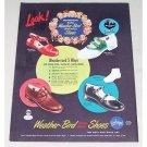 1944 Florsheim Women Military Shoes Color Print Ad - Fit For Service