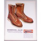 1961 ACME Hawkeye Gunstock Leather Boots Color Art Print Ad
