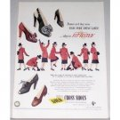 1945 Red Cross Shoes Color Art Print Ad