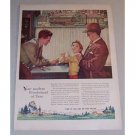 1955 Watchmakers of Switzerland Norman Rockwell Art Color Print Ad