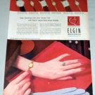1953 Lady Elgin Martha Ladies 21 Jewel Watch Color Print Ad