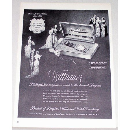 1948 Longines Wittnauer Watch Company Print Ad