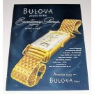 1946 Bulova Excellency Group Watch 21 Jewel Color Print Ad